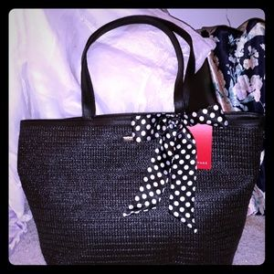 Large Rampage Tote w/gold hardware and bow detail